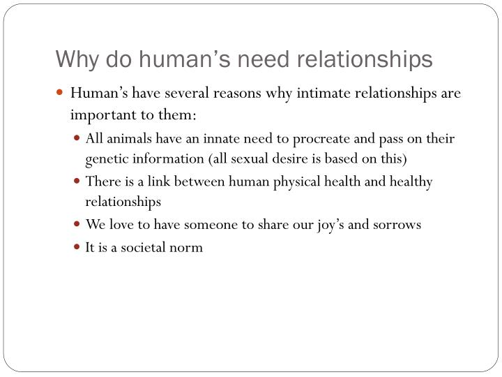 why we need relationships
