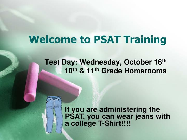 welcome to psat training n.