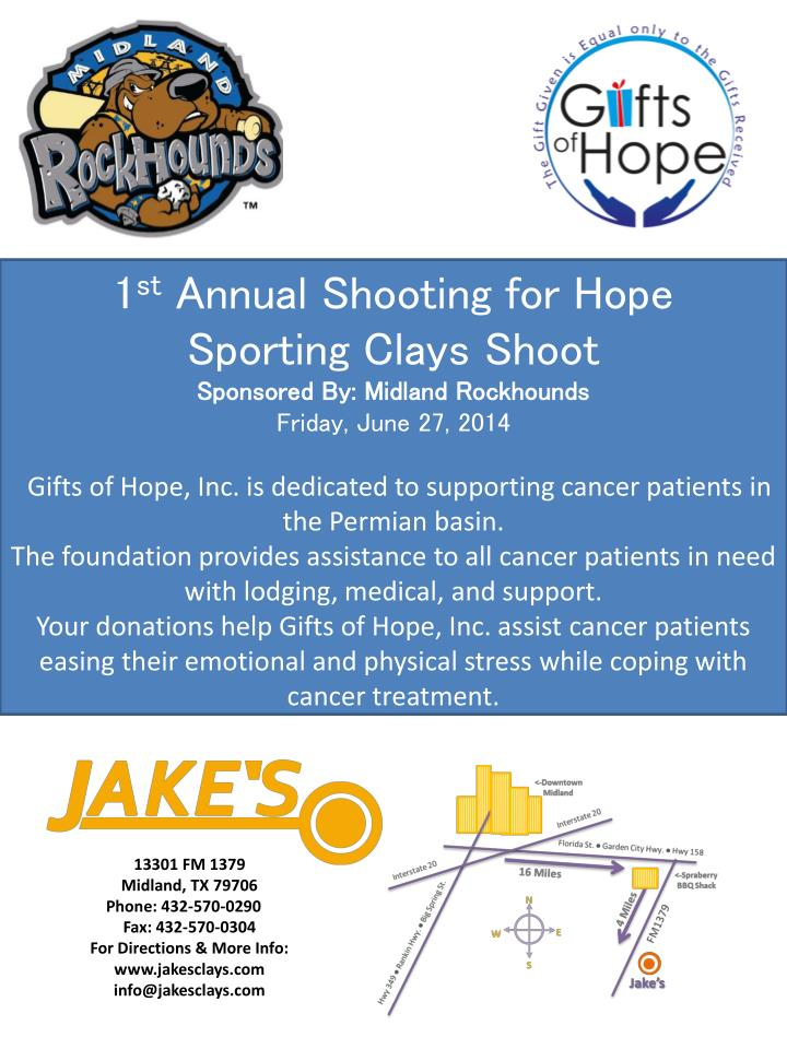 1stAnnual Shooting for Hope