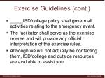 exercise guidelines cont