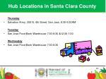 hub locations in santa clara county