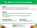 san mateo county hub locations