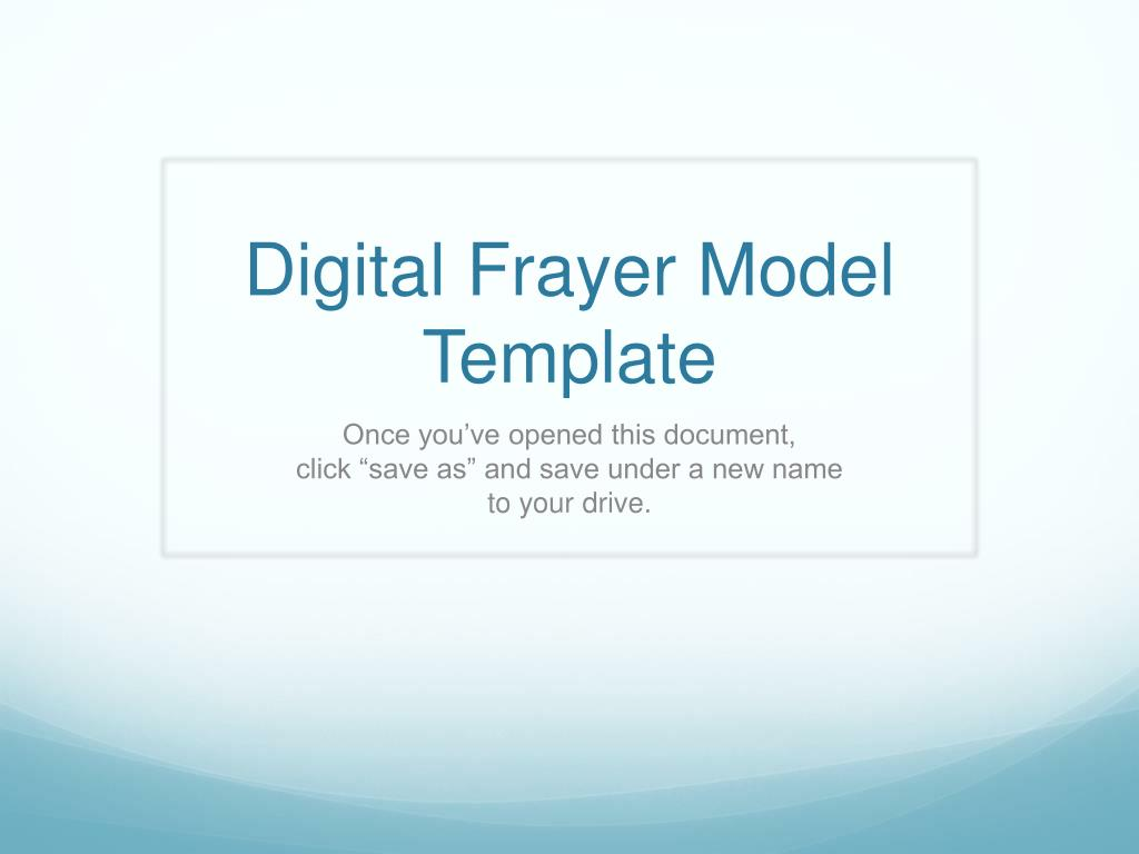 Ppt Digital Frayer Model Template Powerpoint Presentation Free Download Id 2594713