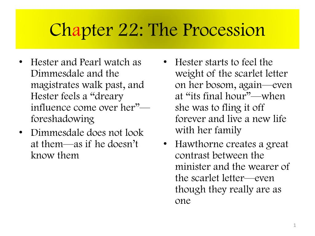 examples of foreshadowing in the scarlet letter