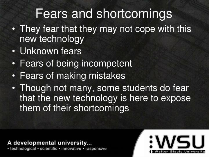 Fears and shortcomings
