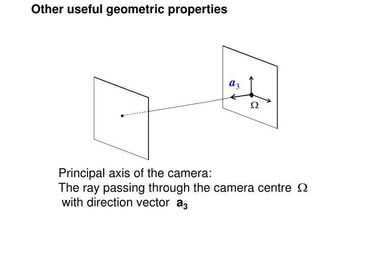 Other useful geometric properties