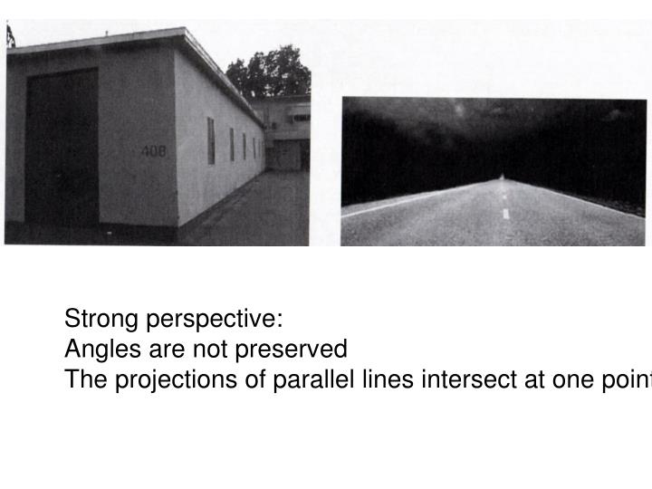 Strong perspective: