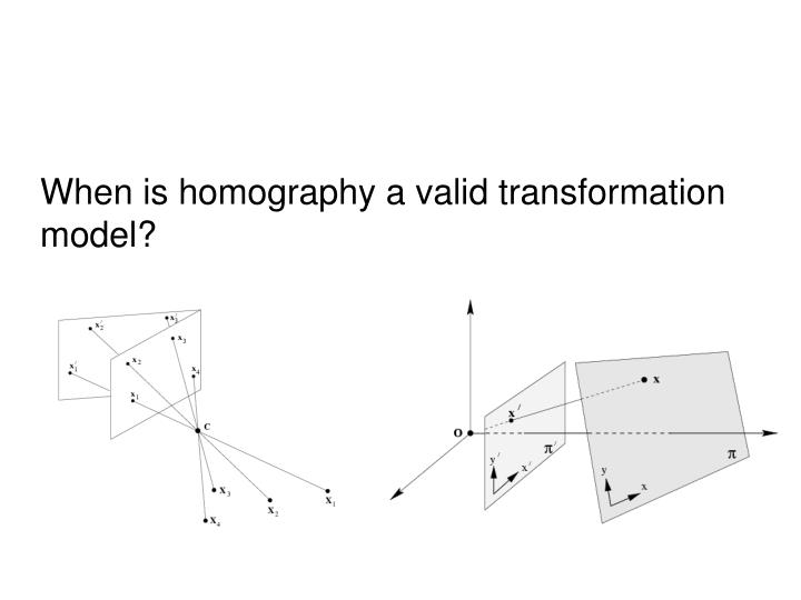When is homography a valid transformation model?