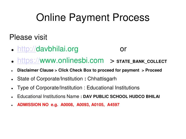 online payment process n.