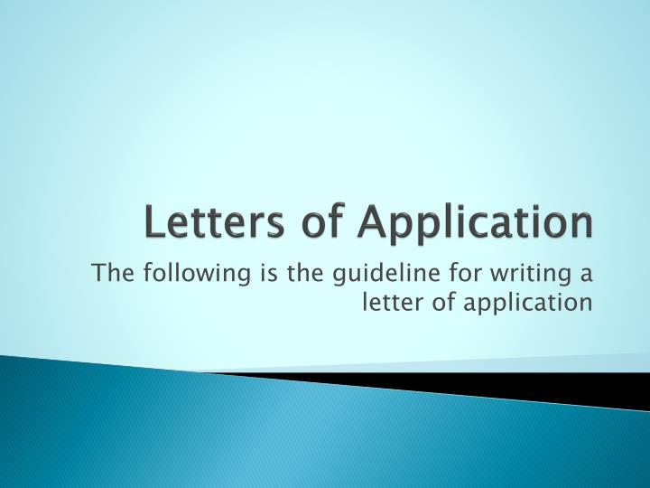 letters of application n.
