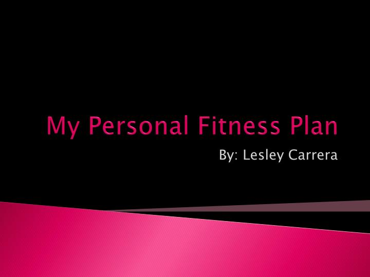 my personal fitness plan n.