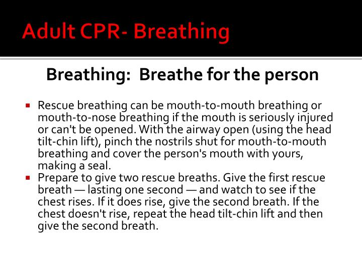 Adult CPR- Breathing