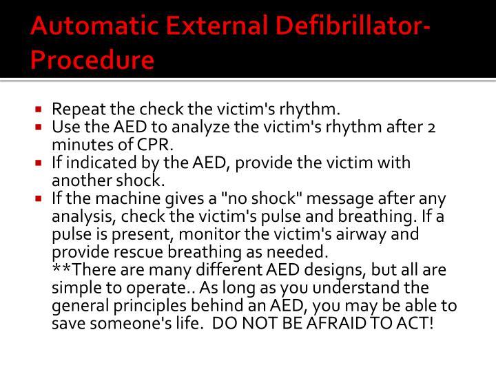 Automatic External Defibrillator-