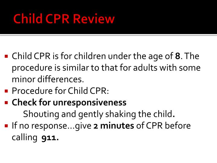Child CPR Review