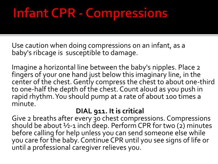 Infant CPR - Compressions
