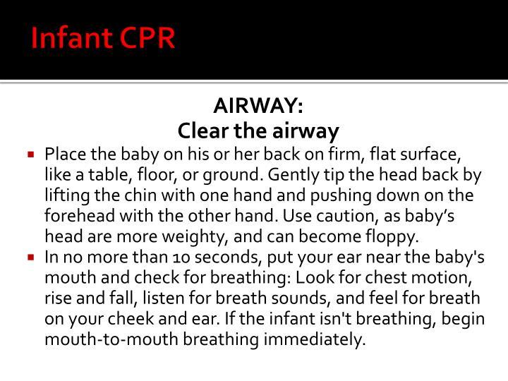 Infant CPR