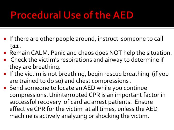 Procedural Use of the AED