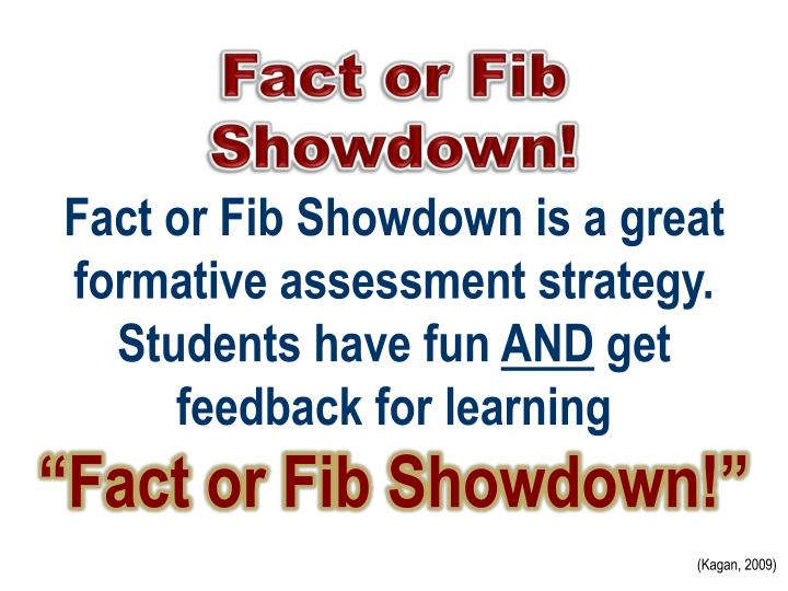 fact or fib showdown n.