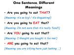 one sentence different meanings