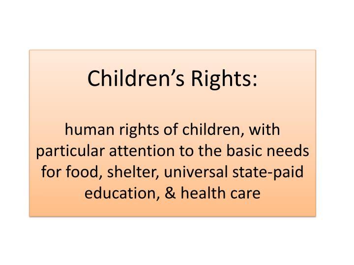 Children's Rights: