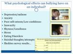 what psychological effects can bullying have on an individual