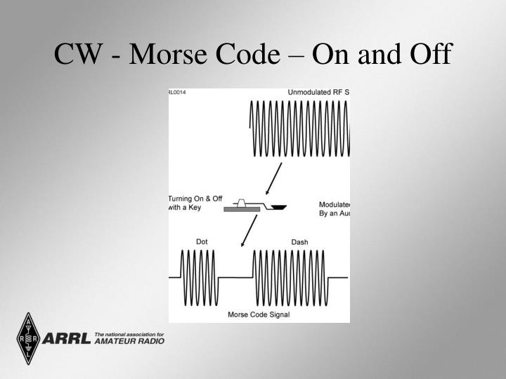 CW - Morse Code – On and Off