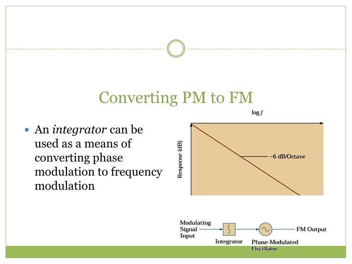 Converting PM to FM