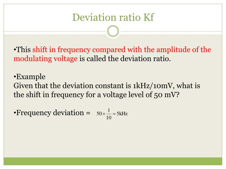 Deviation ratio