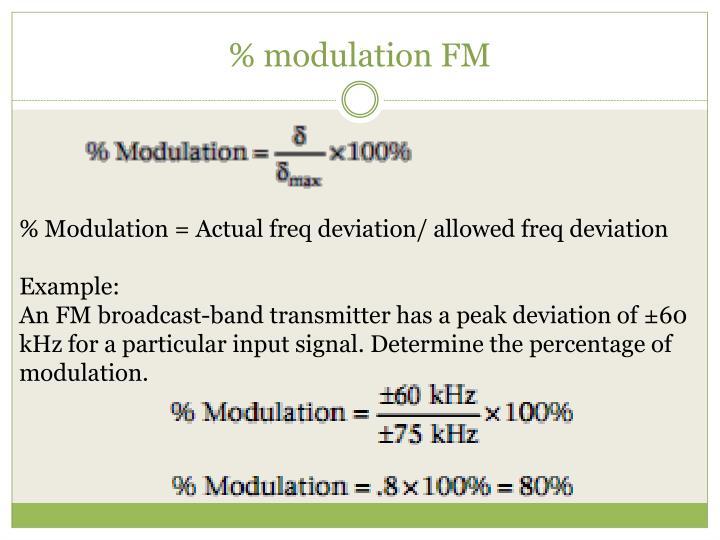 % modulation FM