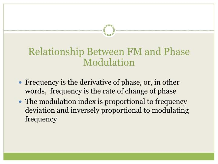 Relationship Between FM and Phase Modulation