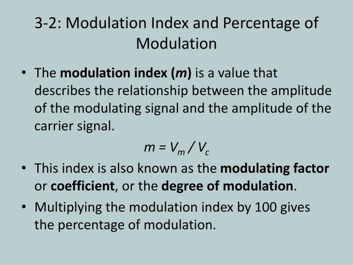 3-2: Modulation Index and Percentage of Modulation