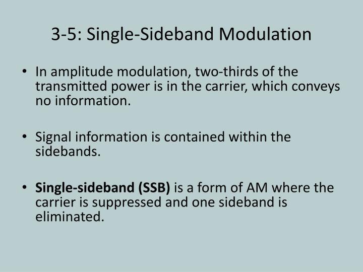 3-5: Single-Sideband Modulation