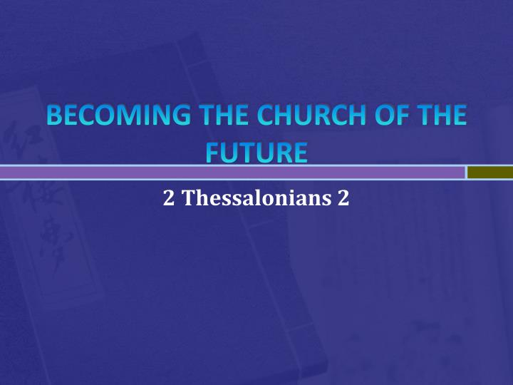 becoming the church of the future n.