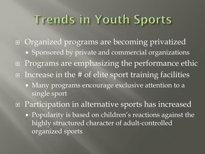 Trends in Youth Sports