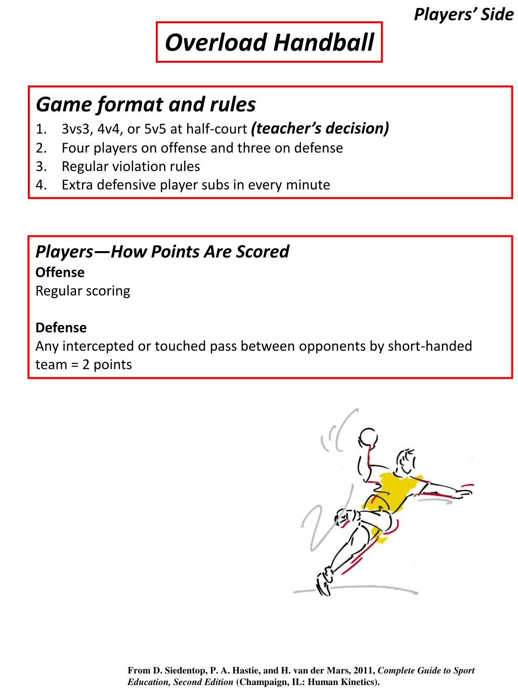 PPT - Shaping Game Play in Handball PowerPoint Presentation