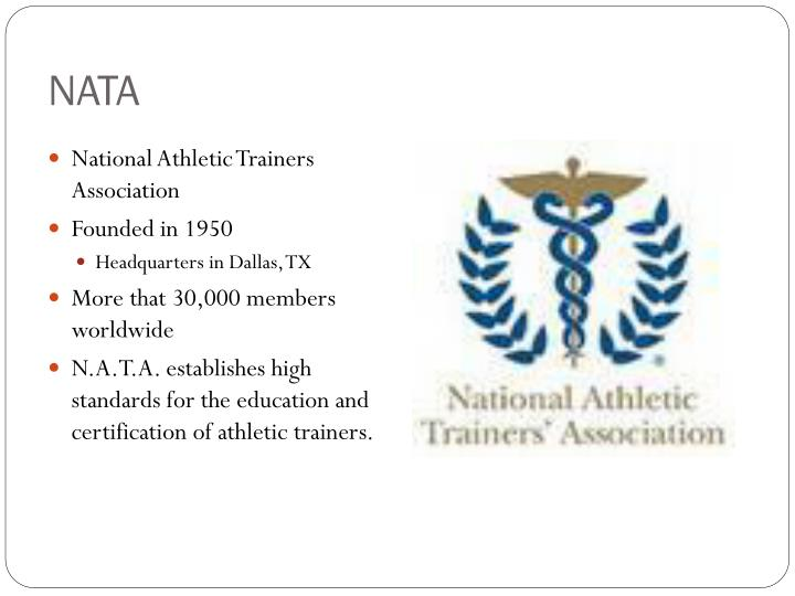 Ppt Athletic Training Profession Powerpoint Presentation Id2596194