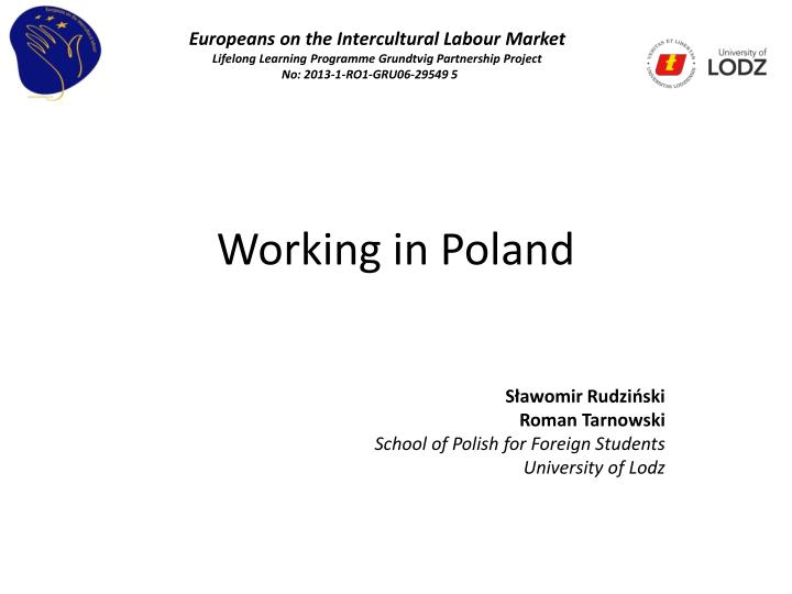 PPT - Working in Poland PowerPoint Presentation - ID:2596465