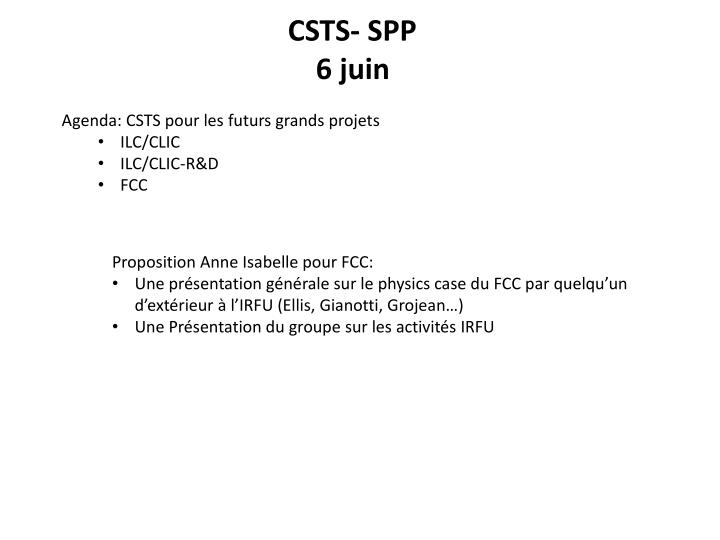 CSTS- SPP