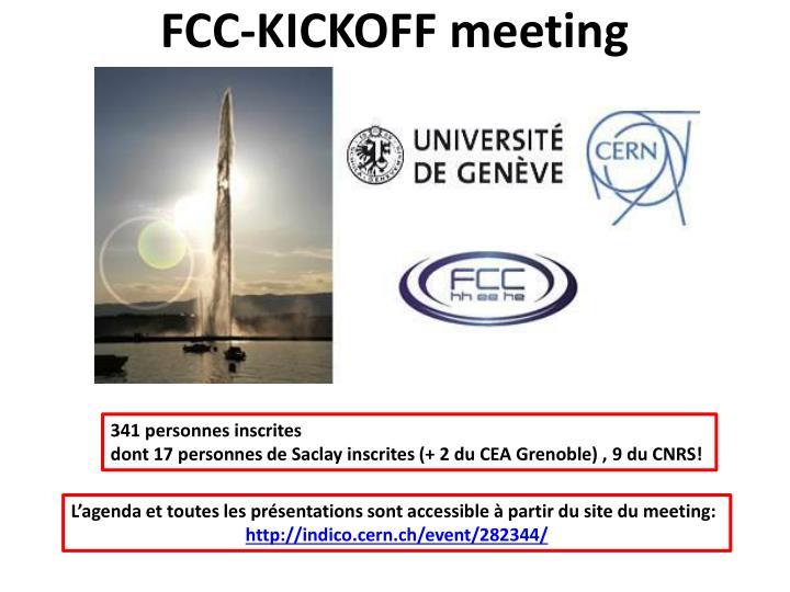 FCC-KICKOFF meeting