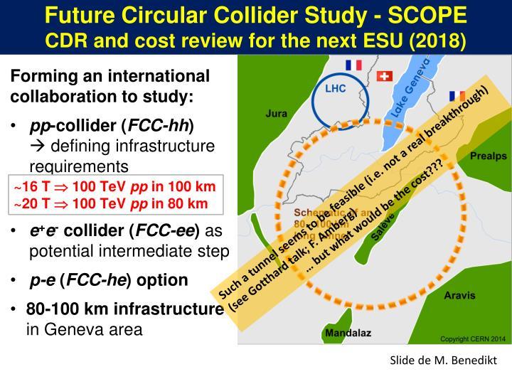 Future Circular Collider Study - SCOPE
