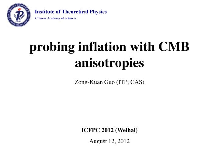 probing i nflation with cmb anisotropies n.