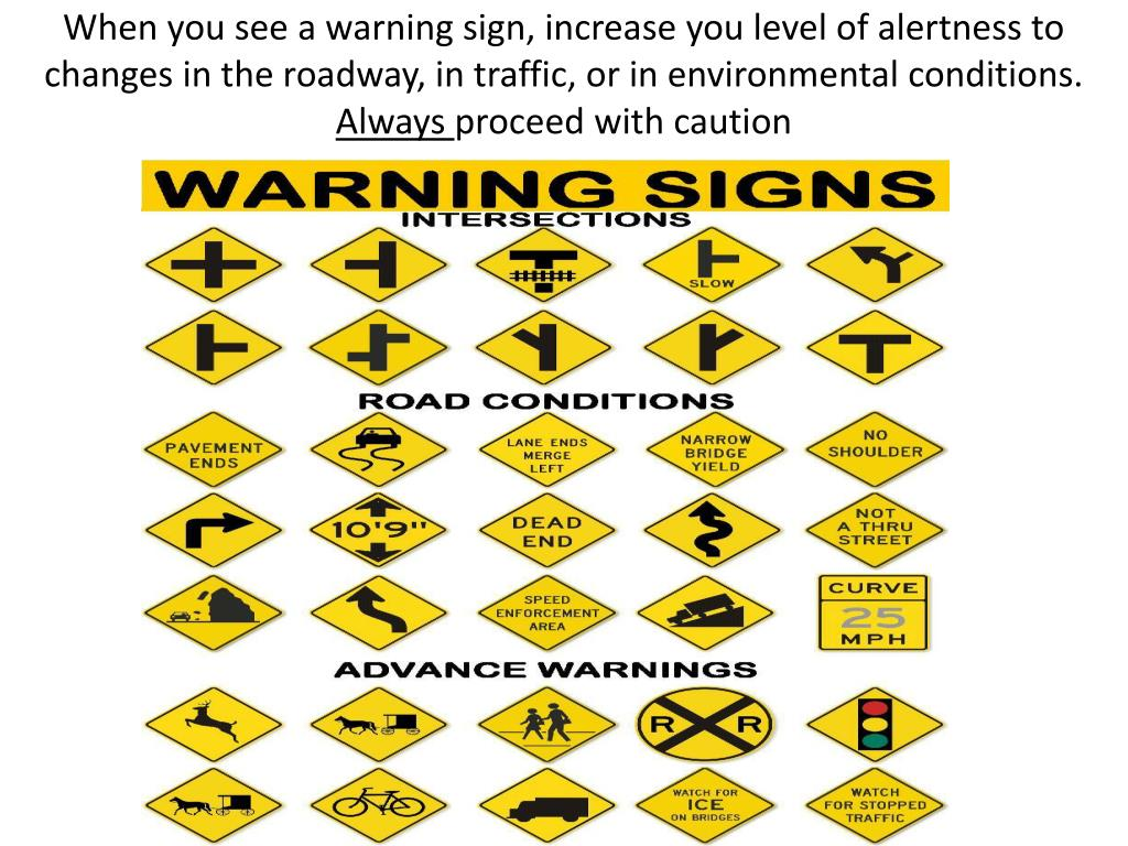 PPT - Chapter 5 Signs, Signals, and Roadway Markings
