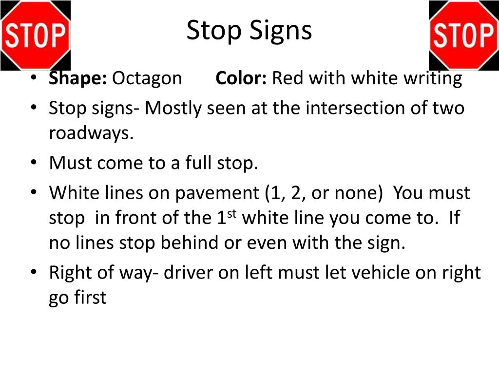 PPT - Chapter 5 Signs, Signals, and Roadway Markings ...
