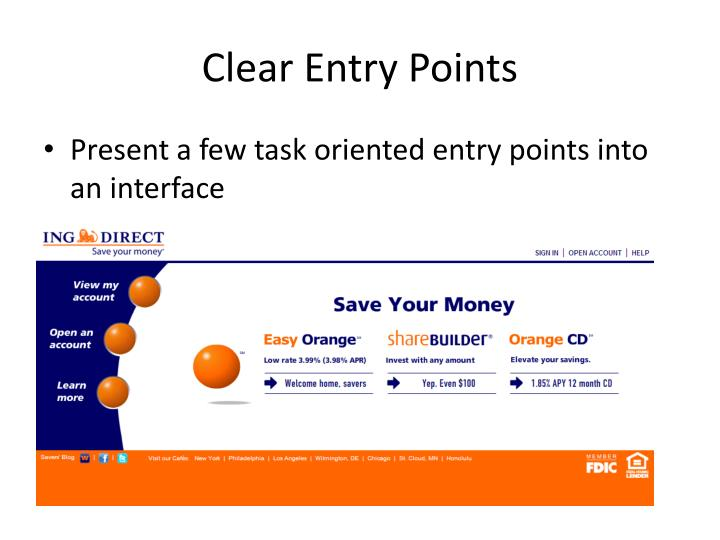 Clear Entry Points