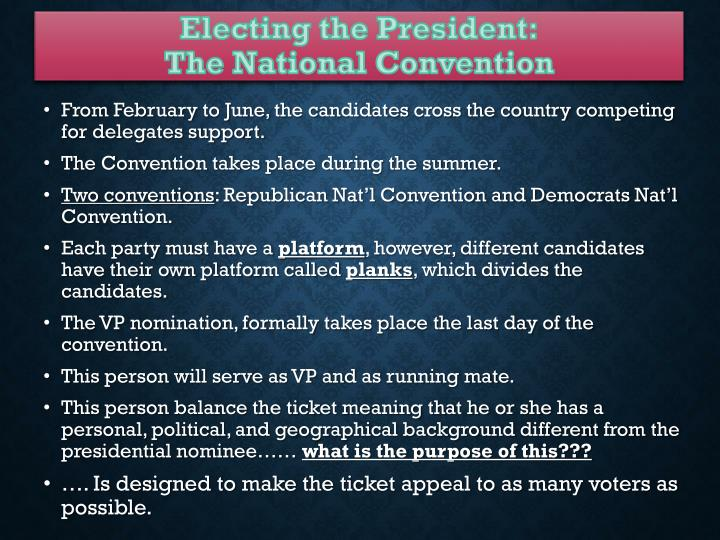 Electing the President: