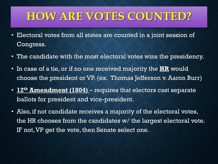 How are votes counted?