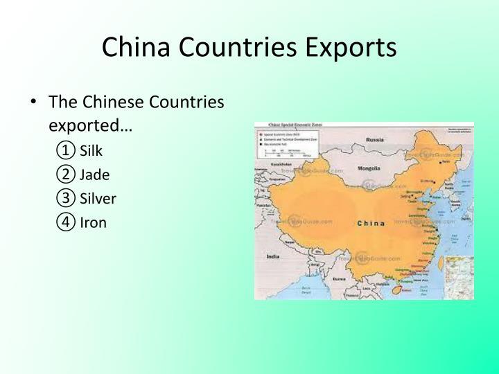 China Countries Exports