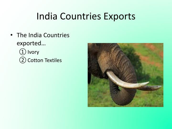 India Countries Exports