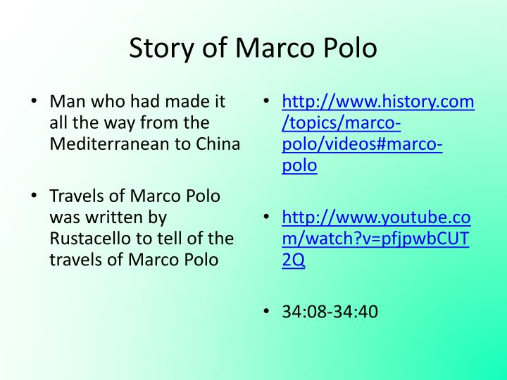 Story of Marco Polo