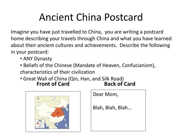 Ancient China Postcard